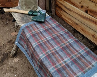 Wool Lined Waxed Canvas Ground Cloth Junior  for Bushcraft, Outdoor Gear, Camping and Gardening