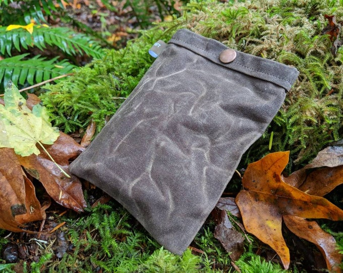 Small Waxed Canvas Bag to keep your Gear Organized by PNW Bushcraft