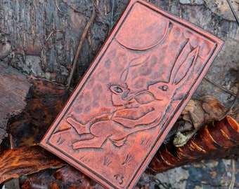 Smoking Rabbit Leather Patch  for your Adventures, Bushcraft and Everyday by PNW Bushcraft FREE US Shipping