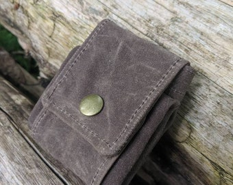 Dark Oak Waxed Canvas Foraging Pouch, Sack, Bag, Perfect for when you need an Extra Pocket FREE U.S. SHIPPING