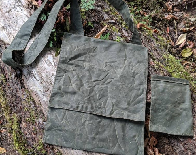 Compact Lightweight Canvas Bag with Cross Body Strap, Perfect for the City but made for your Adventures by PNW Bushcraft