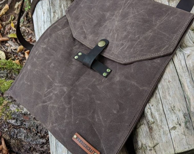 Gorgeous Waxed Canvas Satchel, Perfect for the City but made for your Adventures by PNW Bushcraft