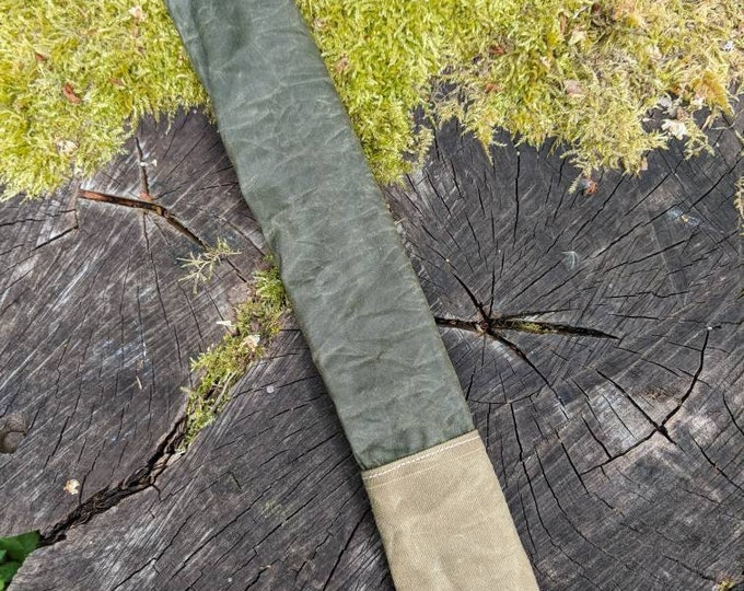 Handmade Long Canvas Bag for Bushcraft, Camping and the Great Outdoors.