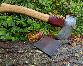 Leather Handmade Small Forest Axe Collar In Dark Brown by PNWBushcraft