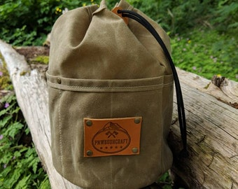 The Cedar Bag in Tan for Gear, Cook Set, Bushcraft, Camping and the Great Outdoors  PNW Bushcraft