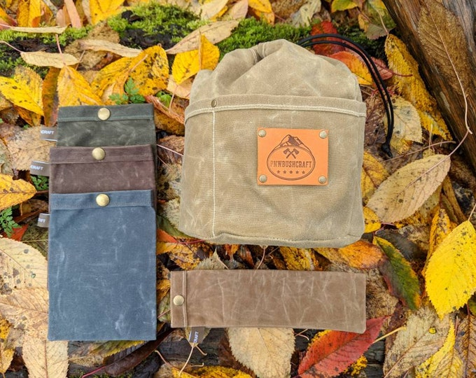 Get Your Pack Organized with 5 Canvas Bags for Adventure, Travel and the Great Outdoors by PNW Bushcraft.