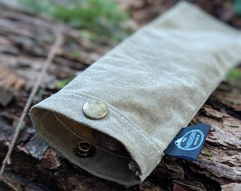 Handmade Waxed Canvas Spork Bag for Bushcraft, Camping and the Great Outdoors in a Standard Size