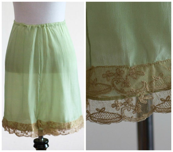 1920s skirt slip in sage green