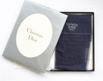 Navy blue Christian Dior garter stockings