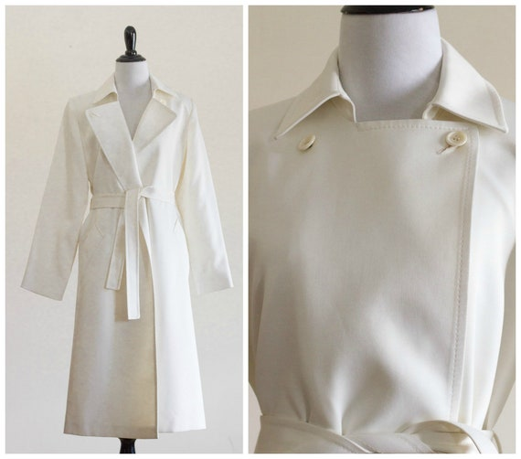 1970s Off White Trench Coat From London Fog by Etsy