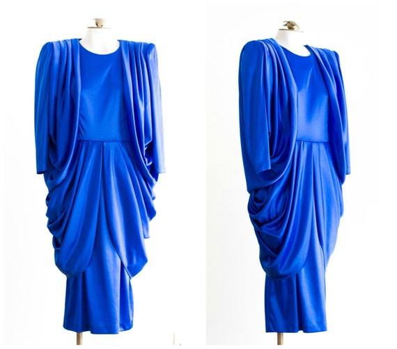 Royal Blue Silky Dress