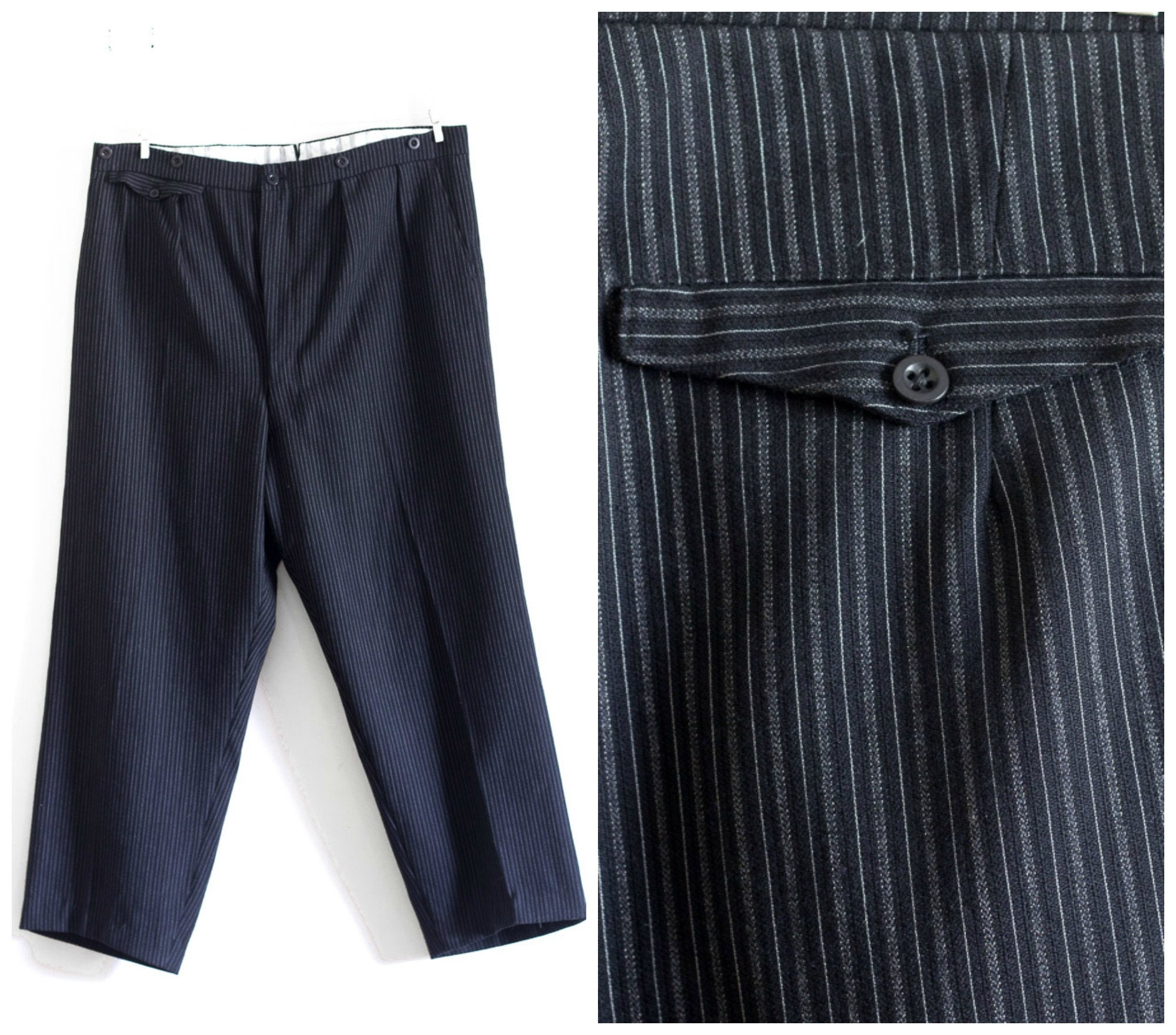 New 1930s Mens Fashion Ties 1920S Or 1930S Mens Pinstripe Trousers $0.00 AT vintagedancer.com