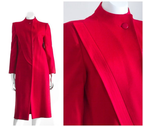 Red wool overcoat from Fleurette for Saks Fifth Av