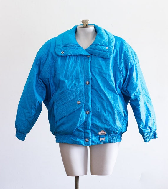 1980s/90s blue puffer ski jacket