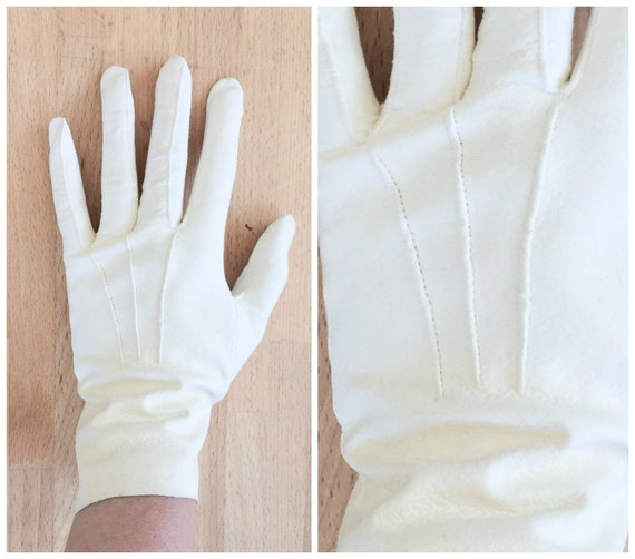 Softest White Leather Gloves by Etsy