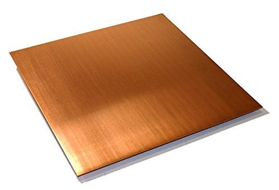 "Select Thickness - Copper Sheet 24/""x48/"" 20ga 26ga 24ga 22ga 18ga"