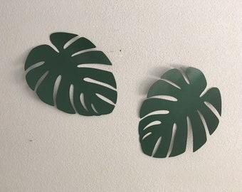 92729330b4 Monstera leaf Metal Leaf Wall Hanging Leaf