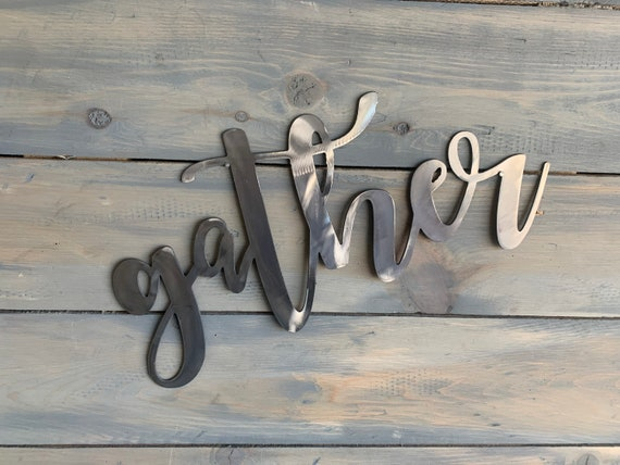 Stainless steel Gather sign. Gather sign   Home Decor