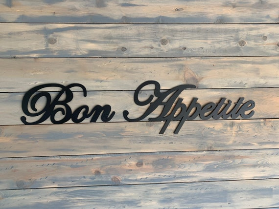 Metal Bon Appetite Sign    Home Decor.   Wall Hanging