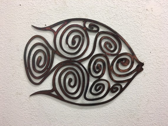 Spiral Fish  - Metal Fish  -Fish Art  - Home Decor  - Metal Wall Art
