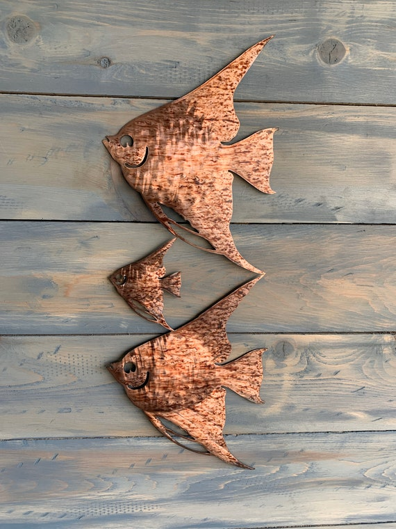 Angel Fish metal wall art   Wall hanging fish  home decor