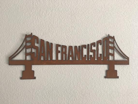San Francisco   - Golden Gate Bridge  - Home Decor   Wall Hanging