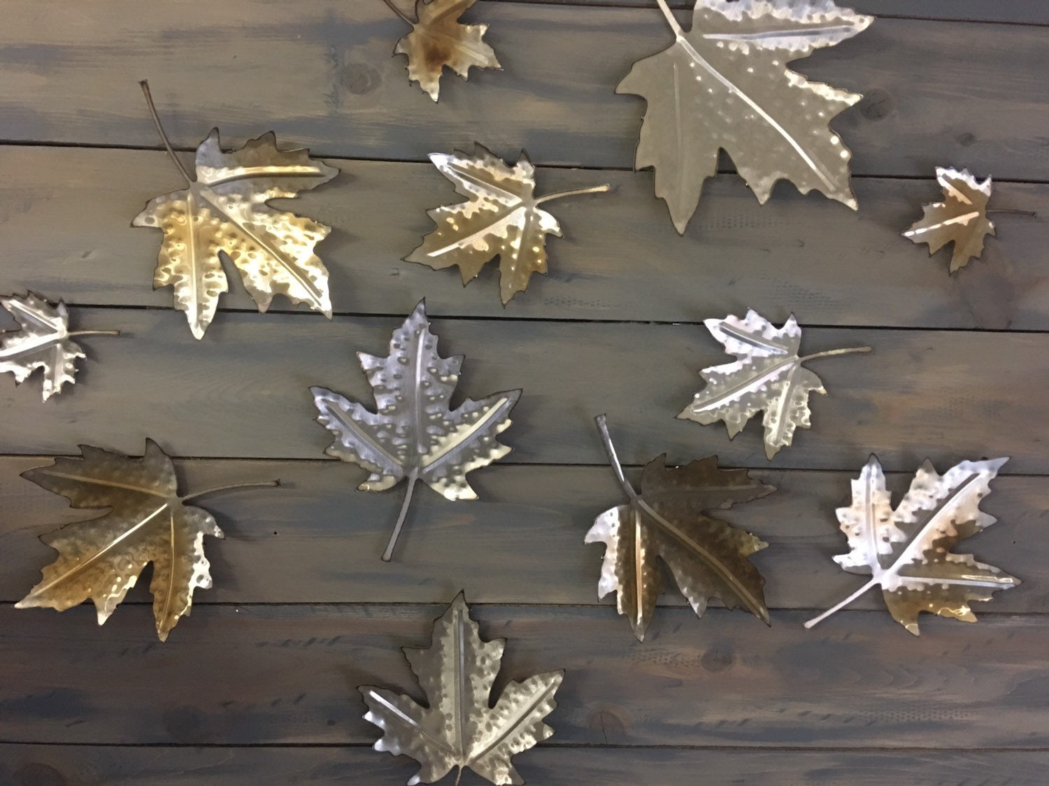 Stainless Maple Leafs Wall Art Metal Leaves Home Decor