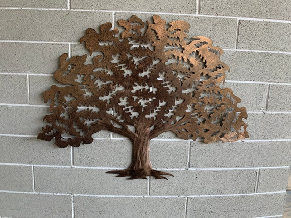 Metal Oak Tree  -   Wall Hanging Tree.   -  Home Decor  -   Brown with black specks