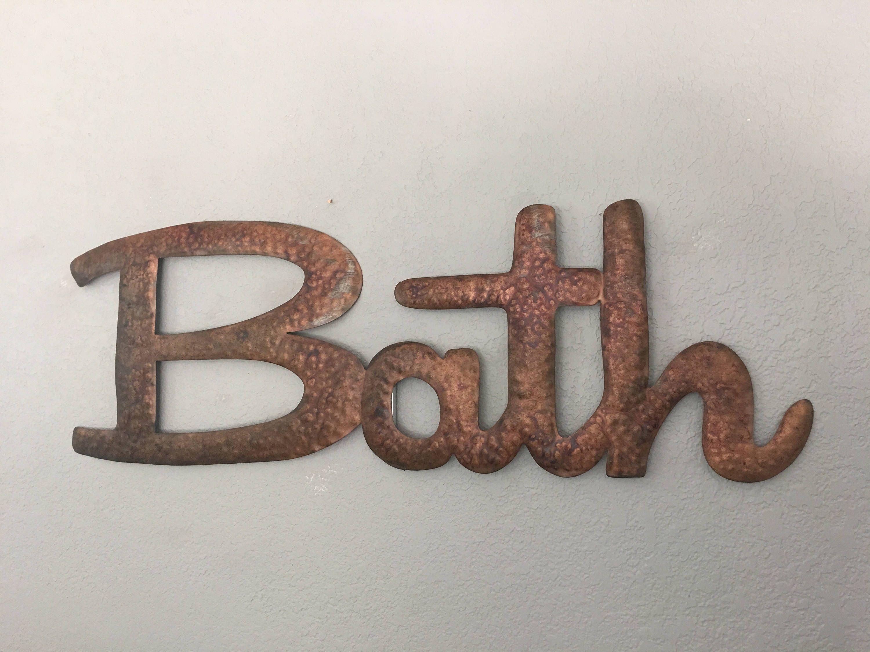 Bath Bath Sign Wall Decor Wall Art