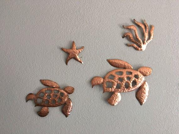 Sea Turtles  - 4 pc set Sea turtles theme   Sea Turtles  - Home decor - wall hanging