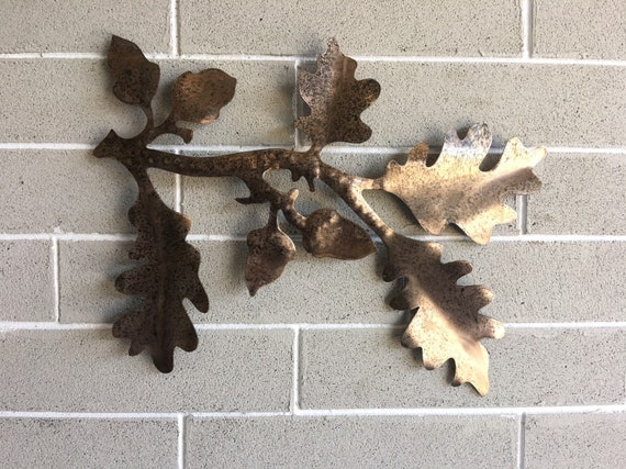 Oak tree branch   Oak Leaf   Metal Wall Hanging    Home Decor