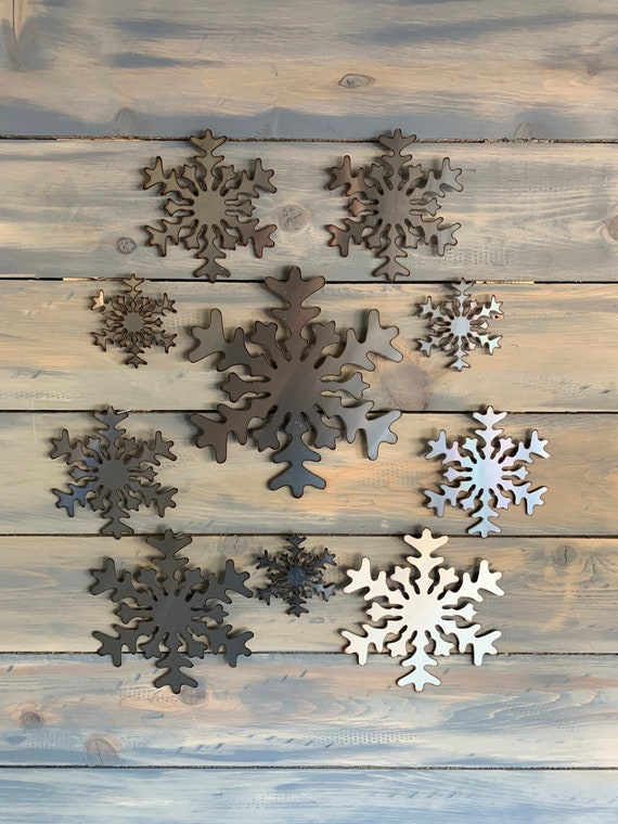 Stainless steel Snow Flakes   Christmas Art Decoration. Stainless steel wall decor