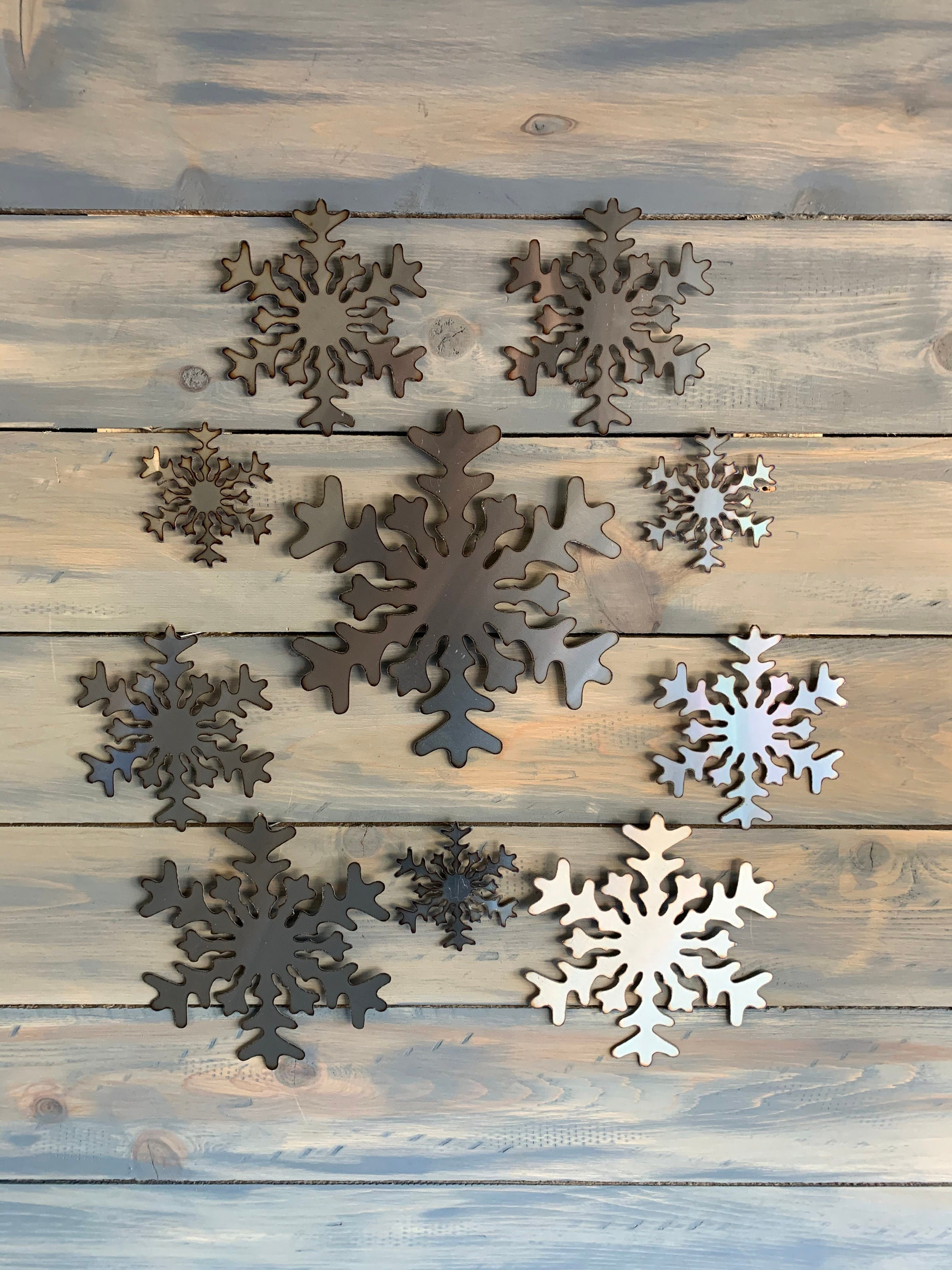 Stainless Steel Snow Flakes Christmas Art Decoration