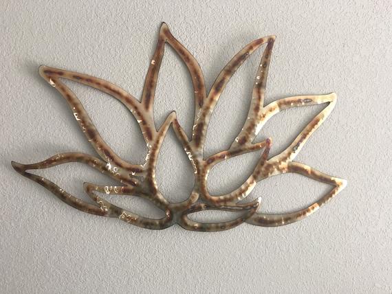 Stainless Steel patina Lotus Flower - Lotus Flower - Metal Flower - Wall Art - Home Decor