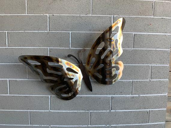 Butterfly  -Stainless steel Butterfly - Metal Butterfly - Heat Colored Butterfly