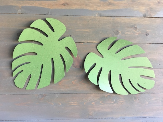 Monstera leaf   Metal Leaf  Wall Hanging Leaf