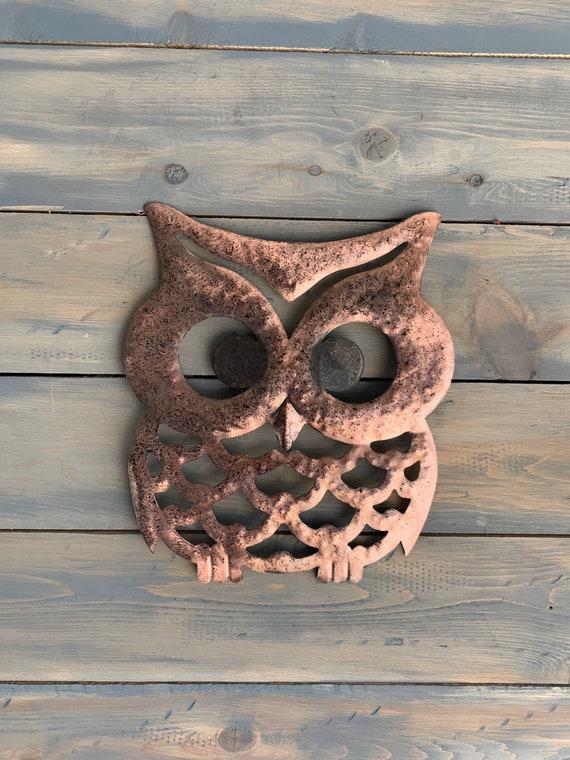 Wise Ol Owl  - metal Owl -  Wall Decor  -  Metal Art - Wall Hanging