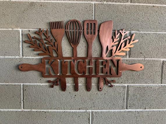 Kitchen wall art.  Kitchen Decor metal wall hanging art