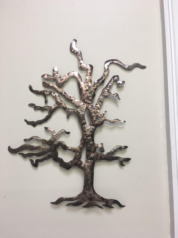Metal Tree - Old Oak Tree - Metal Tree Brown Tree - Home Decor