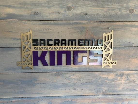 Sacramento Kings Metal Sign