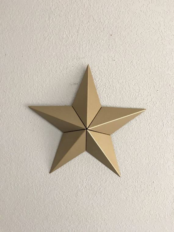 Star -Five point star -  Gold Star - Home Decor - Wall Art - Barn Star - Country Decor - Country Star