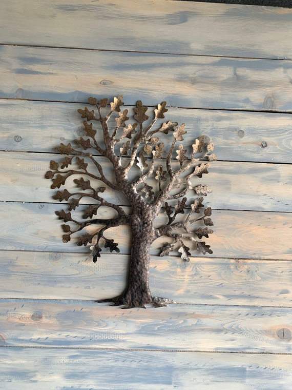 Beautiful Oak -Tree Metal Art - Wall Art