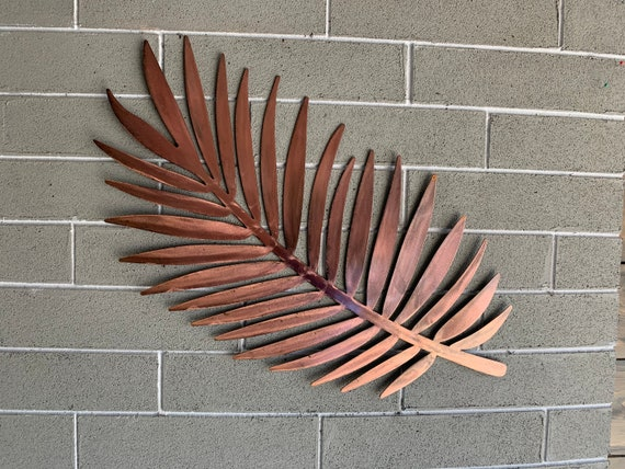 Metal Palm Leaf  - Hanging Palm Leaf.  -  Metal Art  - Home Decor -