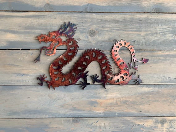 Metal Chinese Dragon - Metal Dragon - Dragon Zodiac - Metal Art - Wall Decor