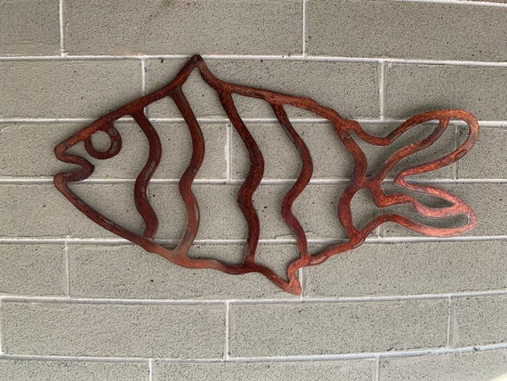 Metal Wall Fish    Fish Art.  Home Decor    Wall Hanging Fish