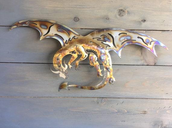 Dragon of  Stainless Steel  - Metal Art Dragon  - Home Decor  - Metal Dragon