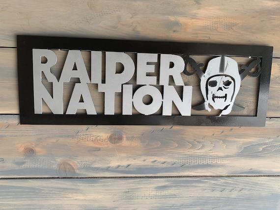 Las Vegas Raiders metal wall art   Raider Art.   Home Decor