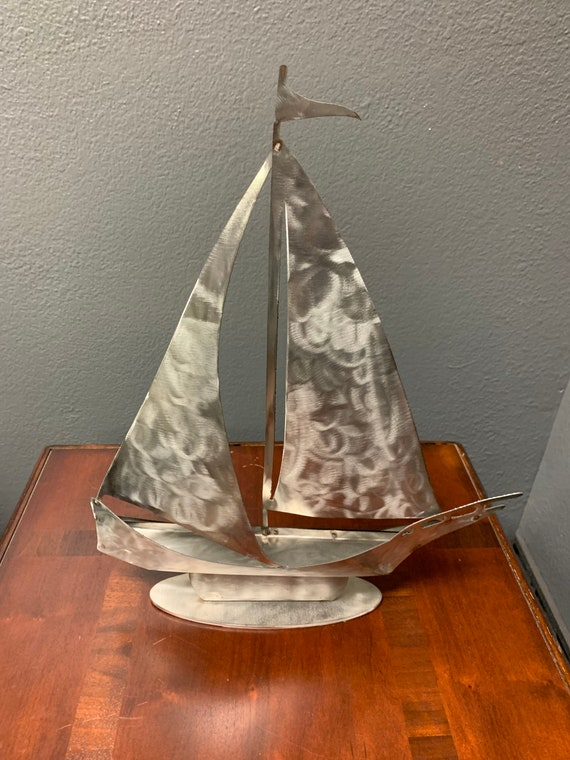 Sailing Boat    Stainless Steel sailboat     Home Decor