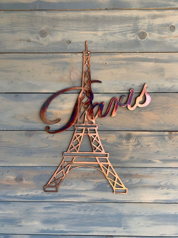 Paris - Eiffel Tower - Metal Art - Metal Eiffel Tower with Paris
