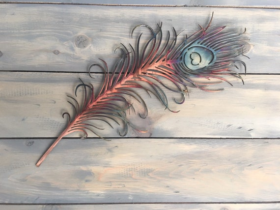 Peacock feather   -   Metal Wall Art    -   Home Decor